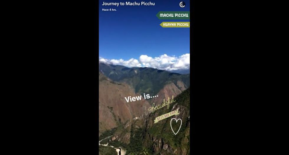 Snapchat promocionó Machu Picchu ante millones de usuarios - 6