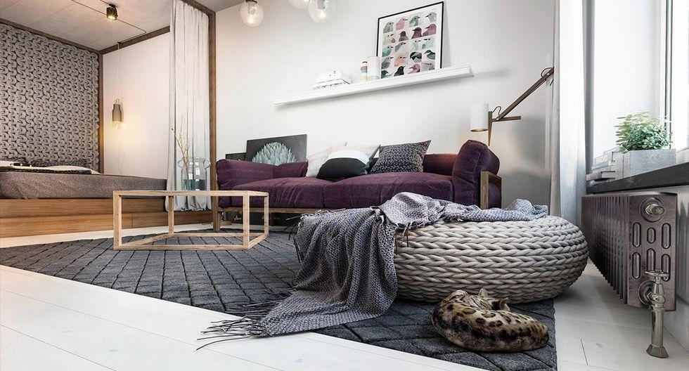 Una casa con un diseño en 24 m2 en Ucrania, en donde se mezcla el estilo clásico, nórdico e industrial. (Foto: Landushera Nastia Studio)