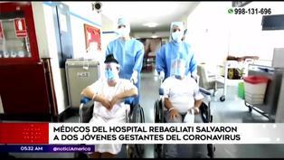 Médicos del Hospital Rebagliati salvaron a dos jóvenes gestantes de covid-19