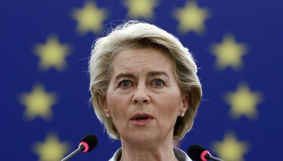 La presidenta de la Comisión Europea, Ursula von der Leyen. (Foto de CHRISTIAN HARTMANN / POOL / AFP).