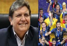 Alan García: ex presidente felicita a Francia tras ganar la Copa del Mundo