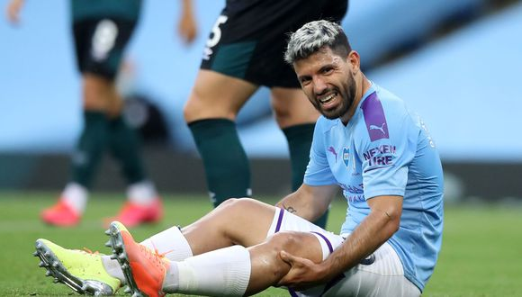 Agüero fue titular en el Manchester City vs. Burnley por la Premier League. (Foto: AFP)