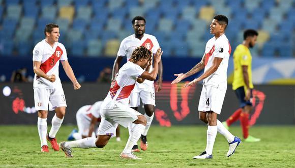 Selección peruana: El equipo nacional le ganó a Colombia por primera vez con Ricardo Gareca en el banco de suplentes desde el 2015. (Foto: AFP)
