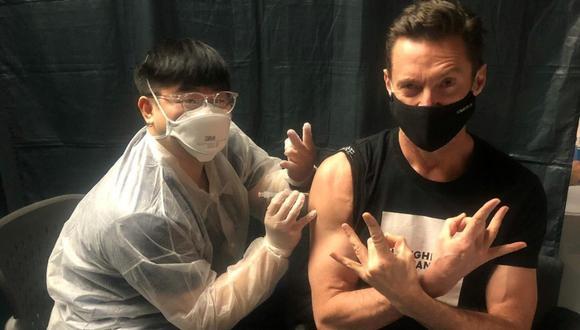 Hugh Jackman se vacuna contra el COVID-19. (Foto: thehughjackman | Instagram)