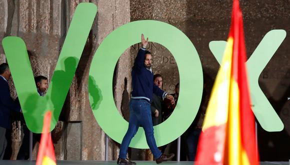 Santiago Abascal, líder de Vox, el partido que podría dar la sorpresa en las elecciones del domingo en España. (Reuters).