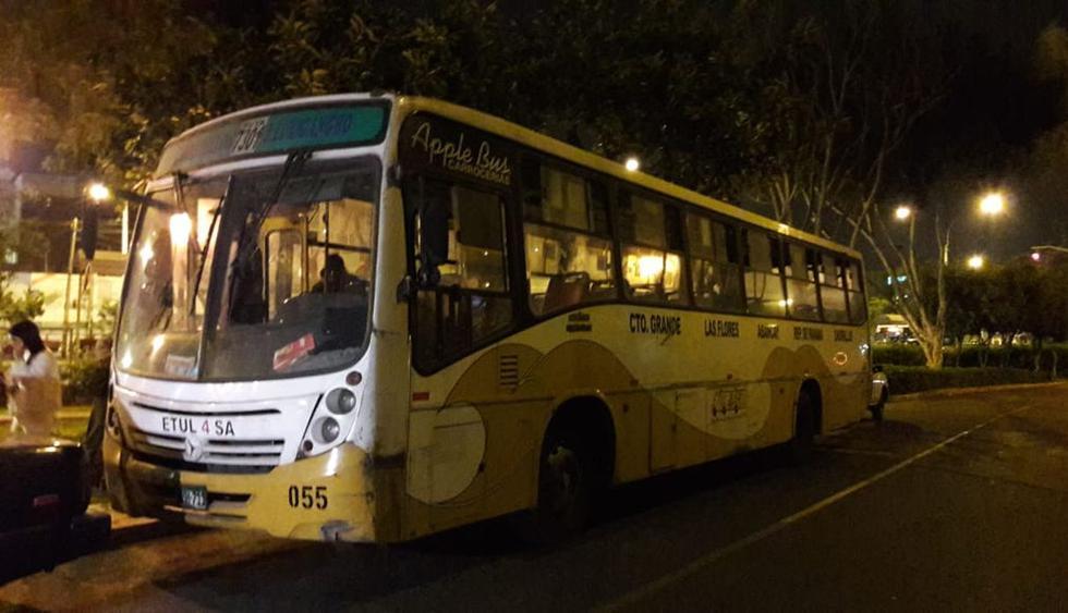 El bus de la empresa Etulsa fue llevado a la comisaría de San Antonio, en Miraflores.