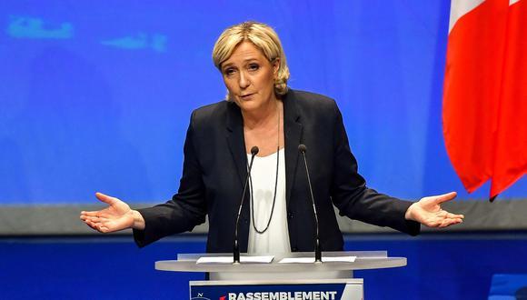 Marine Le Pen es una de las candidatas favoritas a la presidencia de Francia. AFP