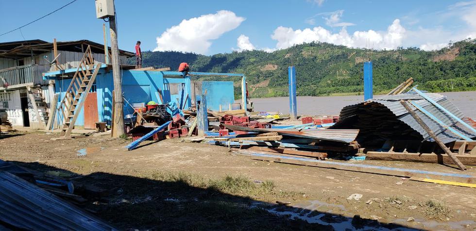 Así quedó el centro poblado Tununtuari tras desborde del río Ene. (Foto: Cortesía)