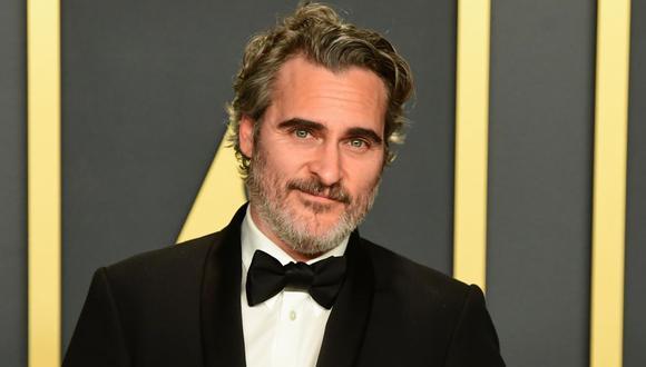 "Joaquin Phoenix en la entrega del Oscar 2020, donde ganó la estatuilla por ""Joker"". (Foto: AFP/Frederic J. Brown)"