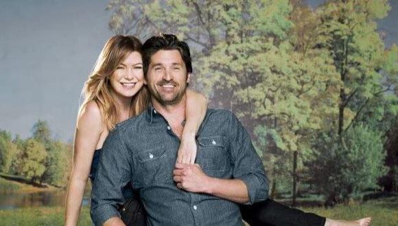 """Ellen Pompeo y Patrick Dempsey fueron pareja durante varias temporadas de """"Grey's Anatomy"""" (Foto: ABC)"""