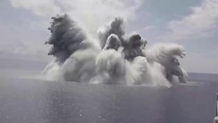 EE.UU prueba resistencia de buque de guerra con megaexplosiones