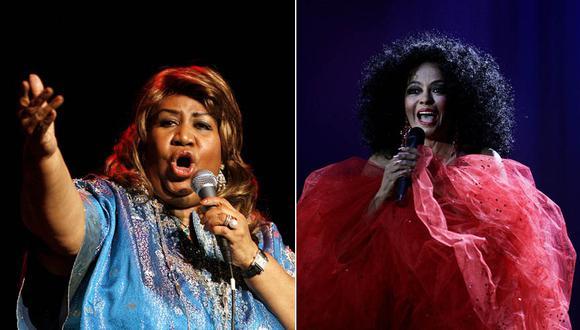 Aretha Franklin y Diana Ross, dos leyendas nacidas en 1974. (Fotos: Agencias)