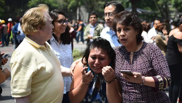 Terremoto en México. (AFP)