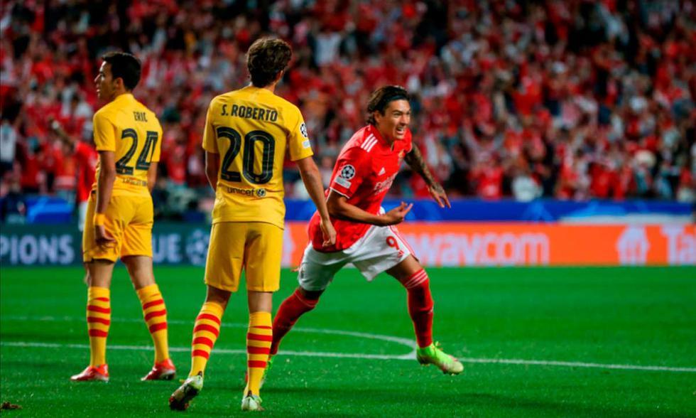 Barcelona vs. Benfica por la UEFA Champions League | Foto: EFE.