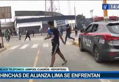 Alianza Lima vs. Cusco FC: vándalos se enfrentaron fuera del estadio Alejandro Villanueva| VIDEO