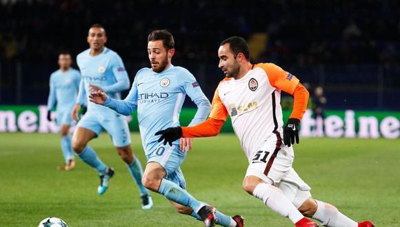 Manchester City perdió 2-1 ante el Shakhtar por Champions League. (Foto: Agencias)