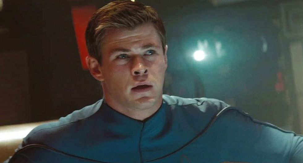 """Así lucía Chris Hemsworth en la película de """"Star Trek"""". (Foto: Paramount Pictures)"""