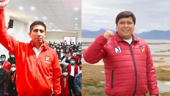 Arturo Cárdenas y Eduardo Bendezú, dirigentes de Perú Libre, afrontarán investigación en libertad. (Fotos: difusión)