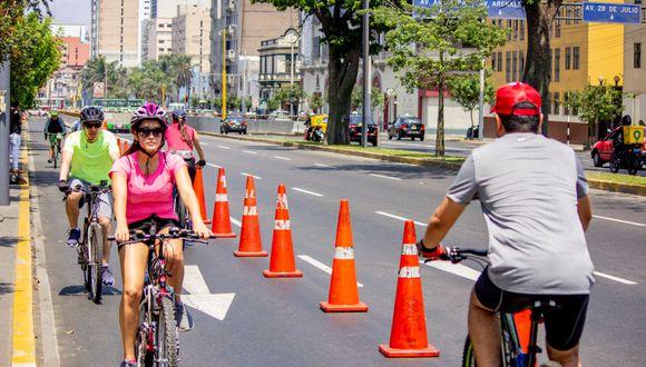 Se trata de un carril bidireccional que conecta las ciclovías de las avenidas Arequipa y Salaverry con el Centro Histórico de Lima. (Difusión)