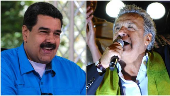 """Maduro felicita a Lenín Moreno por """"victoria heroica"""""""