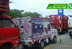 Desorden en Cercado de Lima por camiones infractores