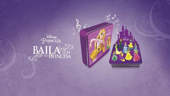 La colección incluye una caja coleccionadora musical que se transforma en una pista de baile para las princesas Disney-