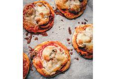 Receta de mini pizzas