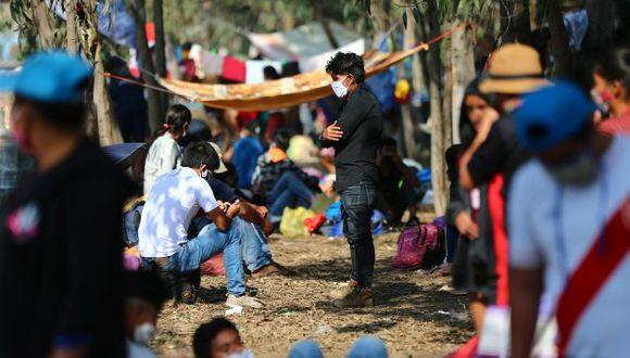 Migrantes que buscan regresar a sus regiones de origen tras quedarse sin recursos. (GEC)