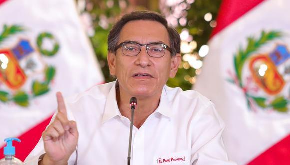 El presidente del Perú Martín Vizcarra brindará conferencia en el día 59 del estado de emergencia. (Foto: AFP / Peruvian Presidency).