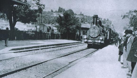 """""""La llegada de un tren a la estación"""" es una de las películas más famosas de los hermanos Lumiere. Dura apenas unos segundos. (Foto: Lumiere Hnos)."""