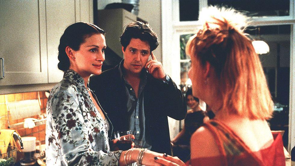 Anna Scott, estrella de cine, y William Thacker, un hombre común, se conocen en un lugar llamado Notting Hill. Nace un inusitado romance, obstaculizado por el acecho de la prensa y las presiones que ejercen sus propias diferencias. (Foto: PolyGram Filmed Entertainment)
