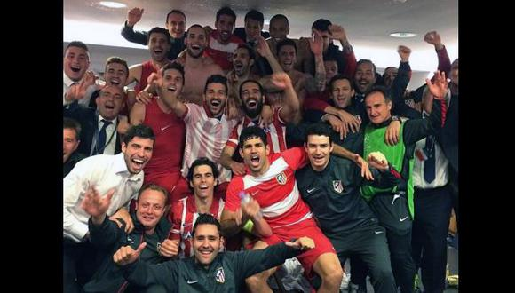 La foto del festejo del Atlético de Madrid en el vestuario