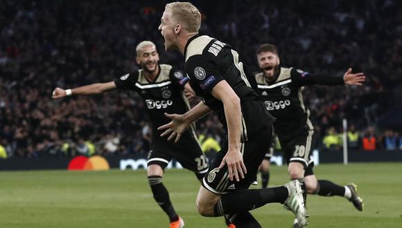 Tottenham vs. Ajax. (AFP)