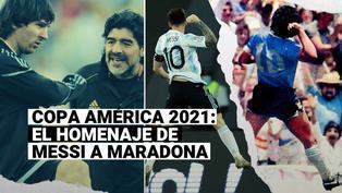 'Maradoniano': Lionel Messi homenajeó a Maradona en su primer gol en Copa América 2021