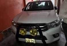Comas: policía allana casa que era usada como cochera para ocultar vehículos robados
