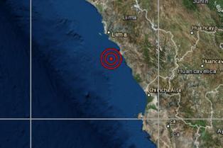 IGP: Sismo de magnitud 4,3 se reportó en Chilca