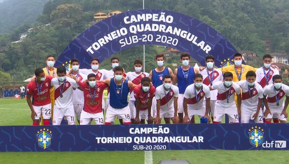Sub 20 de Perú logró tercer lugar en cuadrangular de Brasil (Foto: CBF)