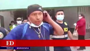 Detienen a sujeto por alterar el orden público en centro médico de Surco