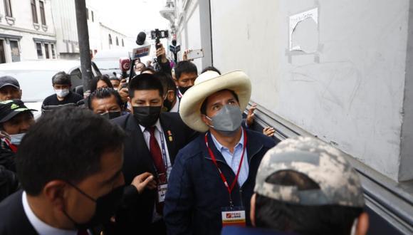 Pedro Castillo, presidente electo, participó este sábado en el congreso partidario de Perú Libre y no brindó declaraciones a los medios de prensa | Foto: Eduardo Cavero / @photo.gec