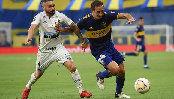 Boca recibe a Santos en el partido por la segunda jornada de la fase de grupos de la Copa Libertadores   Foto: AFP