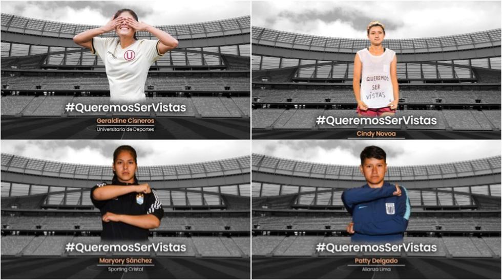 Fútbol femenino: Todas las futbolistas peruanas se unen en su lucha por buscar la igualdad en el deporte. (Foto: Alex Melgarejo)