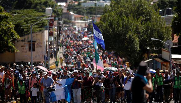 La caravana de migrantes, actualmente en el sur de México e integrada por más de 7.200 personas según estimaciones de la ONU, ha sido blanco de ataques casi diarios de parte del mandatario. (Reuters)
