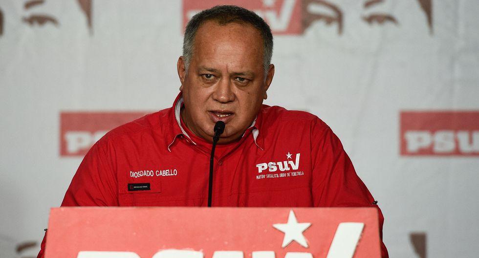 """Diosdado Cabello: """"Ha habido una brisita bolivariana por Ecuador, Perú y Argentina"""". (AFP / Federico PARRA)."""