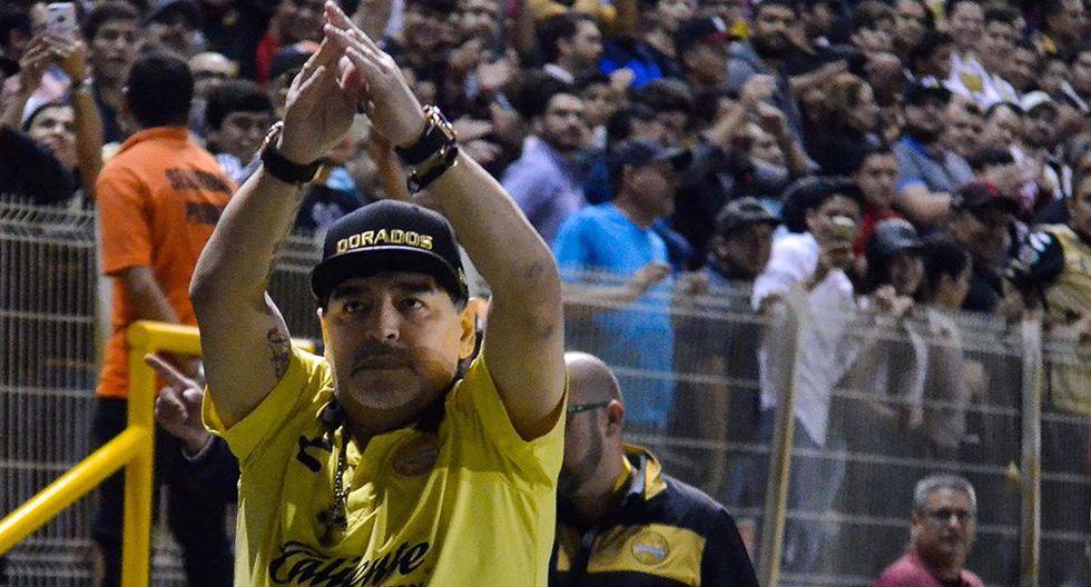 Diego Maradona sigue en Argentina por un mal de salud. (Foto: Facebook Dorados de Sinaloa)