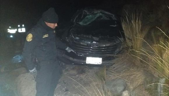 Las cuatro personas heridas fueron trasladadas al hospital de EsSalud de la Oroya. (Andina)