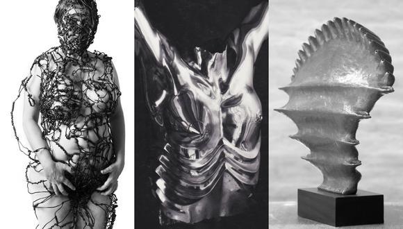 """Esculturas de la muestra """"Metal Bodies: Contemporary Peruvian Women Artists"""" (Foto: Difusión)"""