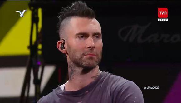 Maroon 5 llega tarde a su presentación en Viña del Mar 2020. (Captura de pantalla)