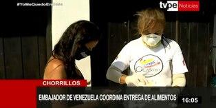 Coronavirus en Perú: Embajador de Venezuela entrega donación de víveres