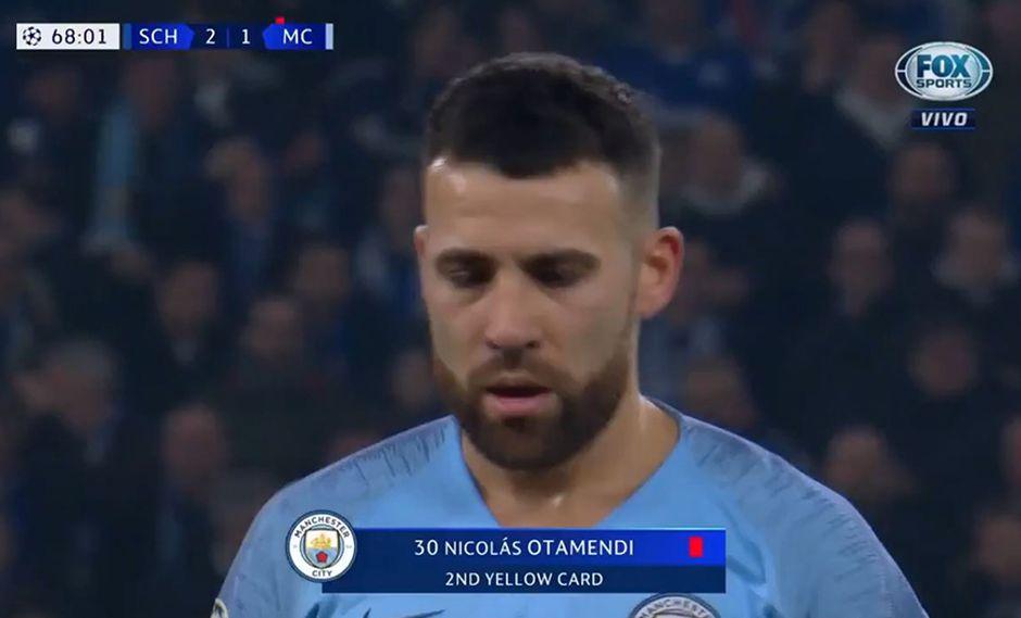Manchester City y la expulsión de Nicolás Otamendi ante el Schalke 04 por Champions League. (Video: Fox Sports)