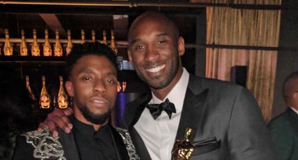 Chadwick Boseman y Kobe Bryant se sacaron esta foto sin pensar que iban a fallecer en el mismo año. (Foto: @chadwickboseman | Twitter)